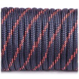 Paracord Type III 550, thin crimson line #227