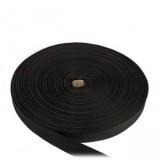 Лента окантовочная, 25 мм, черная полиамидная
