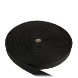 Лента окантовочная, 22 мм, черная полиамидная