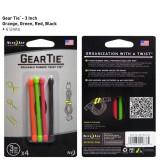 "Хомут Gear Tie Reusable Rubber Twist Tie 3"", 4 шт."