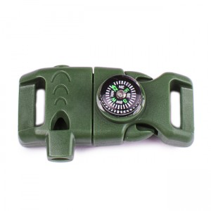 "5/8"", OD green, фастекс с компасом, свистком и огнивом"