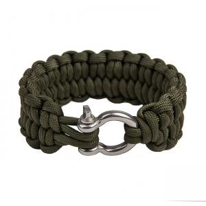 """Быстрорасплетающийся браслет """"Петли"""", Army green"""
