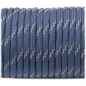 Paracord reflective, navy blue #r3038