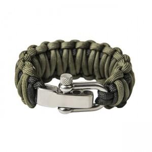 """Браслет """"Двойная кобра"""", Black and Army green (S)"""