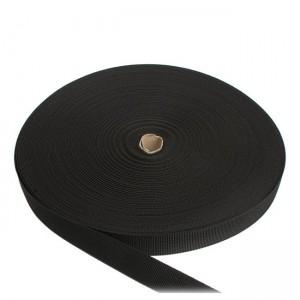 Лента ременная, 25 мм, черная полиамидная