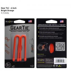"Хомут Gear Tie Reusable Rubber Twist Tie 6"", 2 шт."
