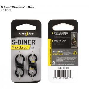 Карабин (нерж.) S-Biner Microlock, 2 шт.
