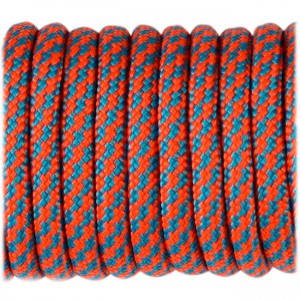 Paracord Type III 550, sofit orange ice mint twist #141