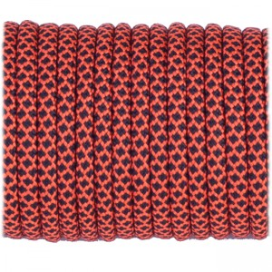 Paracord Type III 550, sofit orange black snake #410