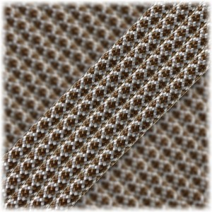 Paracord Type III 550, Silver Chocolate Snake #435